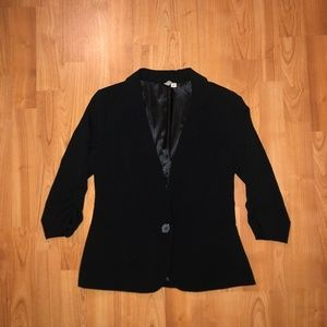 Frenchi Three Quarter Sleeve Blazer Small